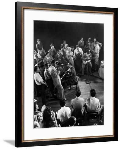 "Composer-Pianist-Arranger Duke Ellington Playing ""Don't Get around Much Anymore""--Framed Art Print"