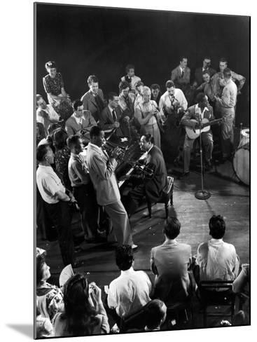 """Composer-Pianist-Arranger Duke Ellington Playing """"Don't Get around Much Anymore""""--Mounted Photographic Print"""