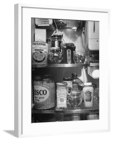 A Series of Pictures Showing How to Take Care of Electric Appliances - How to Store Food--Framed Art Print