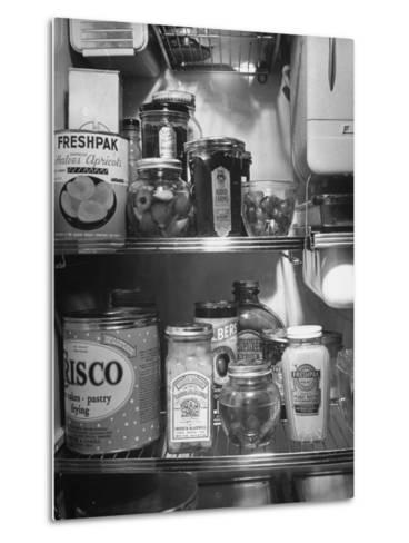 A Series of Pictures Showing How to Take Care of Electric Appliances - How to Store Food--Metal Print