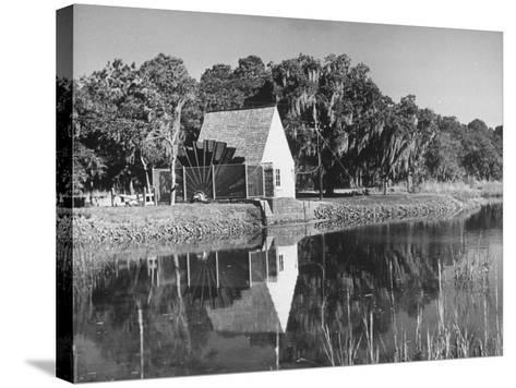 Water Wheel on the Boone Plantation, Owned by Thomas A. Stone--Stretched Canvas Print