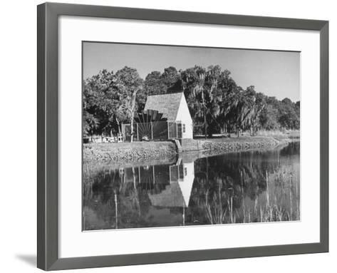 Water Wheel on the Boone Plantation, Owned by Thomas A. Stone--Framed Art Print