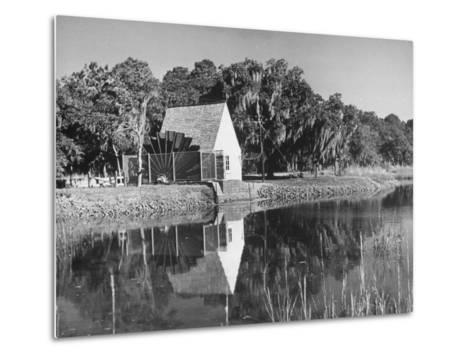 Water Wheel on the Boone Plantation, Owned by Thomas A. Stone--Metal Print
