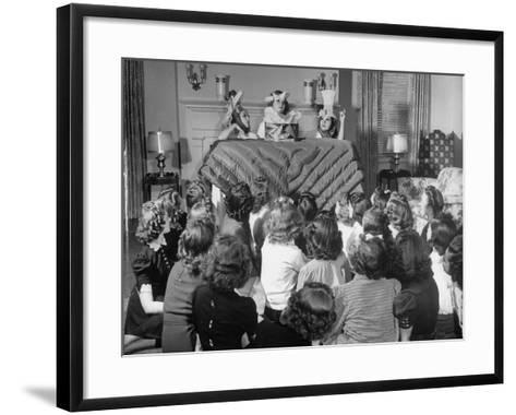 Members of the Gamma Phi Beta Sorority Amusing Themselves--Framed Art Print