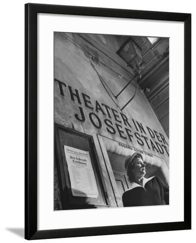 Paula Wessely Attending Theater Production at Theater in Der Josefstadt--Framed Art Print
