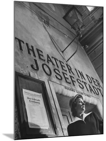 Paula Wessely Attending Theater Production at Theater in Der Josefstadt--Mounted Photographic Print