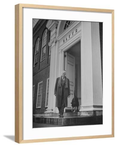 Poet Robert Frost--Framed Art Print
