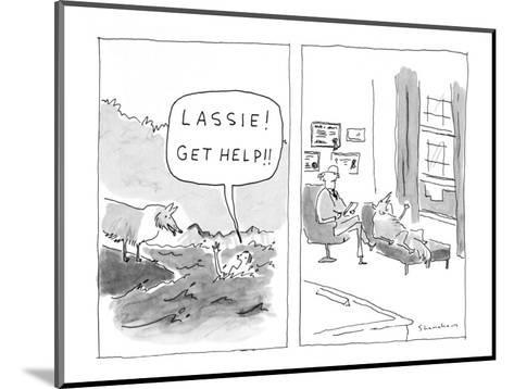 """Lassie! Get help!"" - New Yorker Cartoon-Danny Shanahan-Mounted Premium Giclee Print"