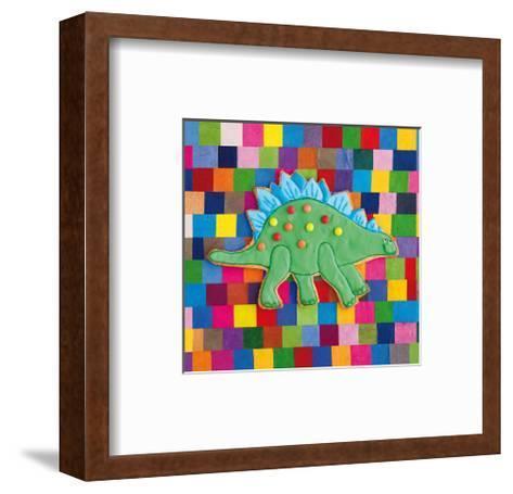 Stiggle Stegosaurus-Howard and Lauren Shooter and Floodgate-Framed Art Print