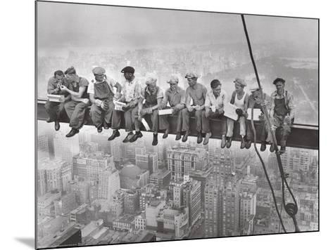 City Lunch- Anon-Mounted Giclee Print