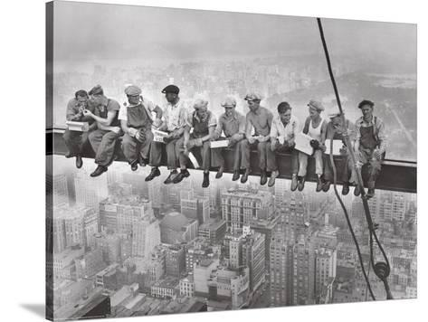 City Lunch- Anon-Stretched Canvas Print