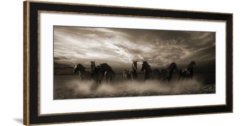 Wild Stampede-Malcolm Sanders-Framed Art Print