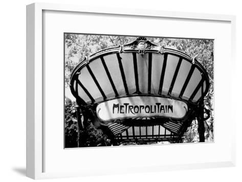 Metro Entrance, Paris-Heiko Lanio-Framed Art Print