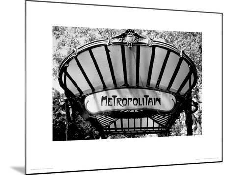 Metro Entrance, Paris-Heiko Lanio-Mounted Giclee Print