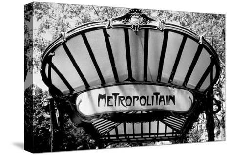 Metro Entrance, Paris-Heiko Lanio-Stretched Canvas Print