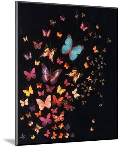 Midnight Butterflies-Lily Greenwood-Mounted Giclee Print