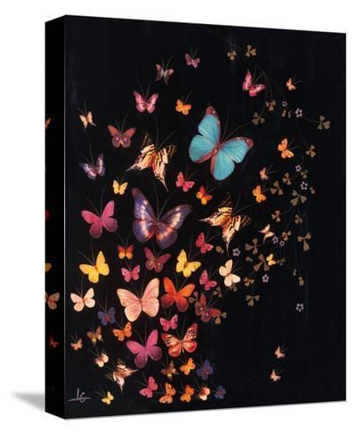 Midnight Butterflies-Lily Greenwood-Stretched Canvas Print