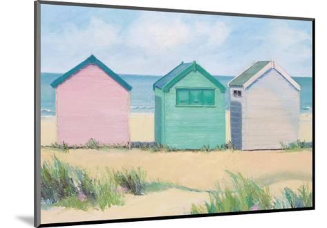 Beach Huts-Jane Hewlett-Mounted Giclee Print