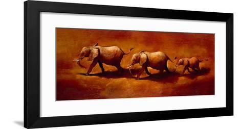 Three African Elephants-Jonathan Sanders-Framed Art Print