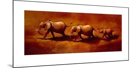 Three African Elephants-Jonathan Sanders-Mounted Giclee Print