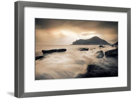 Sepia Sea, Lofoten Islands-Andreas Stridsberg-Framed Art Print