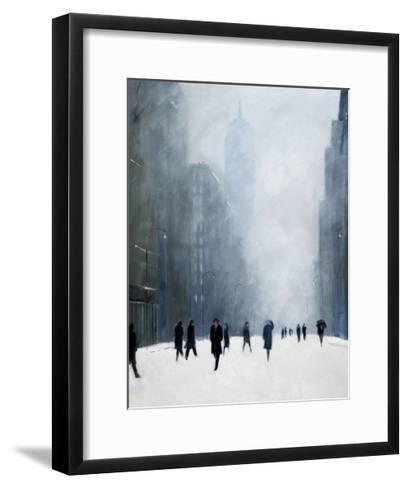 Blizzard - 5th Avenue-Jon Barker-Framed Art Print