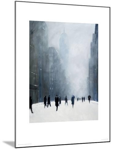 Blizzard - 5th Avenue-Jon Barker-Mounted Giclee Print
