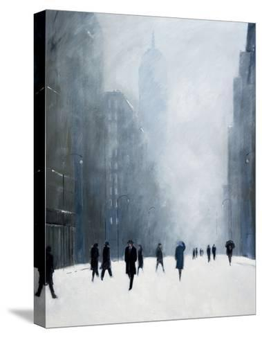 Blizzard - 5th Avenue-Jon Barker-Stretched Canvas Print