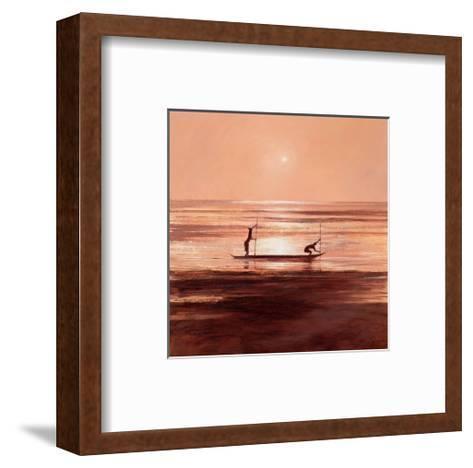 Sinking Sun-Jonathan Sanders-Framed Art Print