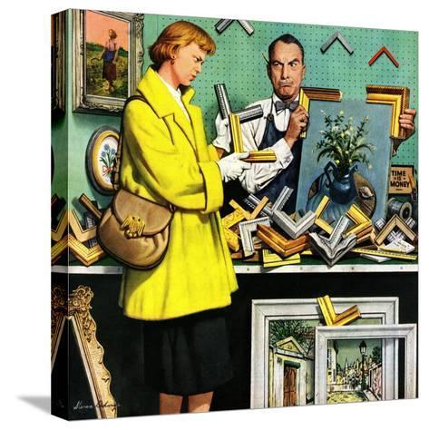 """""""Frame-Up"""", April 30, 1955-Stevan Dohanos-Stretched Canvas Print"""