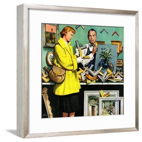 """Frame-Up"", April 30, 1955-Stevan Dohanos-Framed Art Print"