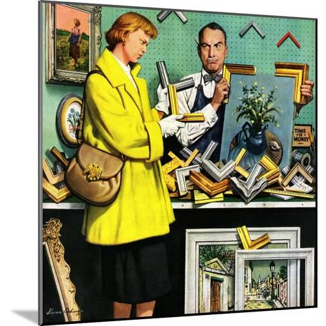 """Frame-Up"", April 30, 1955-Stevan Dohanos-Mounted Giclee Print"