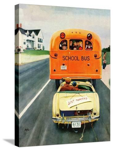 """""""Just Married"""", September 10, 1955-George Hughes-Stretched Canvas Print"""