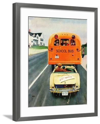 """Just Married"", September 10, 1955-George Hughes-Framed Art Print"
