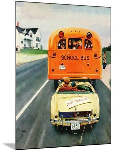 """""""Just Married"""", September 10, 1955-George Hughes-Mounted Giclee Print"""