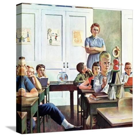 """Future Engineer"", April 4, 1959-John Falter-Stretched Canvas Print"