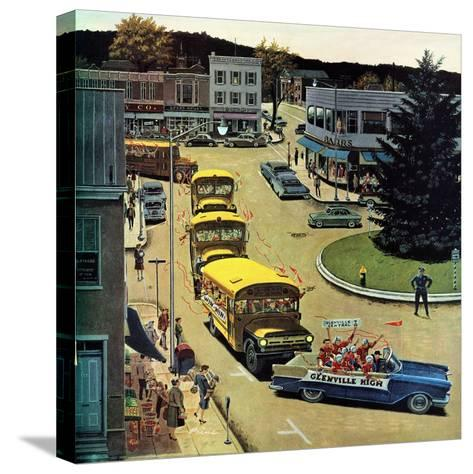 """""""Glenville High Boosters"""", October 31, 1959-Ben Kimberly Prins-Stretched Canvas Print"""