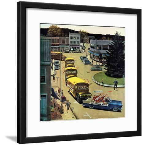 """Glenville High Boosters"", October 31, 1959-Ben Kimberly Prins-Framed Art Print"