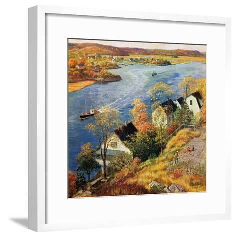 """""""Gloucester Harbor"""", November 14, 1959-John Clymer-Framed Art Print"""