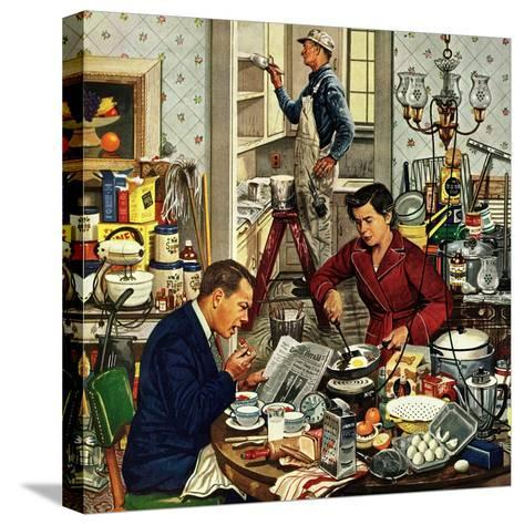 """Home Improvement"", December 5, 1953-Stevan Dohanos-Stretched Canvas Print"