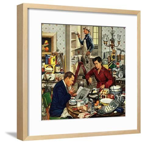 """""""Home Improvement"""", December 5, 1953-Stevan Dohanos-Framed Art Print"""