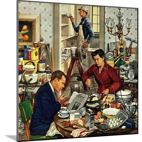 """Home Improvement"", December 5, 1953-Stevan Dohanos-Mounted Giclee Print"
