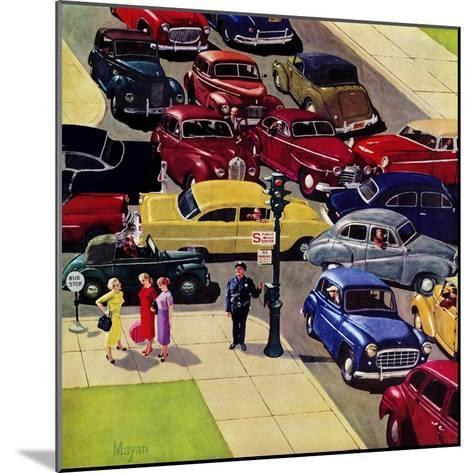 """Traffic Jam"", April 28, 1956-Earl Mayan-Mounted Giclee Print"