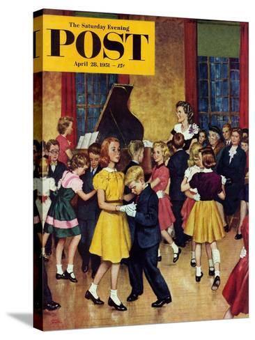 """Dance Cotillion"" Saturday Evening Post Cover, April 28, 1951-Amos Sewell-Stretched Canvas Print"