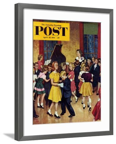 """Dance Cotillion"" Saturday Evening Post Cover, April 28, 1951-Amos Sewell-Framed Art Print"