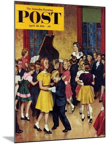 """Dance Cotillion"" Saturday Evening Post Cover, April 28, 1951-Amos Sewell-Mounted Giclee Print"