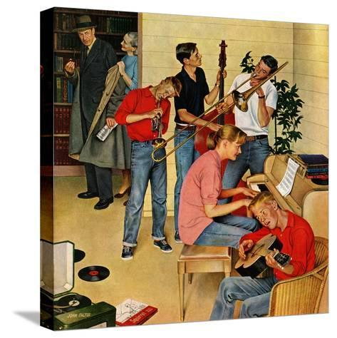 """Jam Session"", October 23, 1954-John Falter-Stretched Canvas Print"