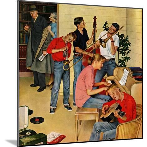"""""""Jam Session"""", October 23, 1954-John Falter-Mounted Giclee Print"""