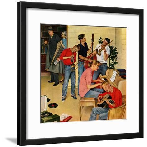 """""""Jam Session"""", October 23, 1954-John Falter-Framed Art Print"""