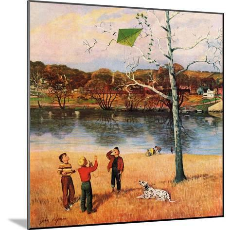 """Kite in the Tree"", March 10, 1956-John Clymer-Mounted Giclee Print"